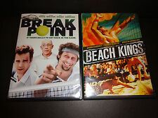 BREAK POINT & BEACH KINGS-2 DVDs-Jeremy Sisto , J K Simmons, David Charvet