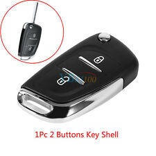 Replacement 2 Buttons Remote Flip Key Fob Case Shell For Peugeot 107 207 307 308
