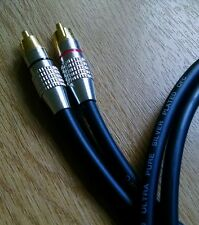 Van Damme - Silver Plated OFC RCA Phono to Phono Ultra Cable Black 2m