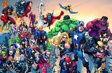 vintage 2008 MARVEL YOUR UNIVERSE POSTER 24 X 36 INCHES
