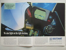 2/1990 PUB SEXTANT AVIONIQUE MILITARY AVIONICS PILOT FIGHTER HELMET ORIGINAL AD