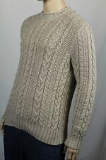 Polo Ralph Lauren Small S Beige Rollneck Cable-knit Sweater NWT $125