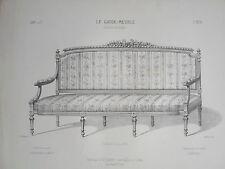 Canapé genre LOUIS XVI siége GRAVURE le GARDE-MEUBLE MIDART XIXéme