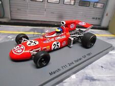 F1 MARCH 711 Ford V8 Cosowrth STP #25 Peterson Italien GP 1971 Spark Resin 1.43