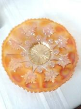 "FENTON MARIGOLD CARNIVAL GLASS ""LITTLE FLOWERS"" 10 1/2"" PLATE"