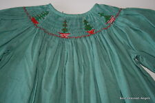 Amanda Remembered Smocked Christmas Dress Girl Size 2 Boutique Clothes