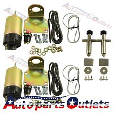 New 60 Pound Shaved Door Handle Trunk Solenoid With 2 Door Poppers Street Rod