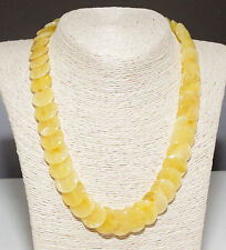Unique Genuine Baltic Amber Adult Necklace 49 cm/19.3 in Butter