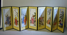 Vintage hand painted Korean style miniature screen
