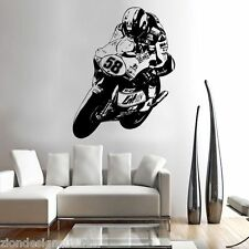 MARCO SIMONCELLI 58  WALL ART 01 motorcycle racer decal graphic adhesive UNIQUE