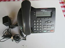 Nortel Norstar I2002 IP telephone phone NTDU76 charcoal w/power supply