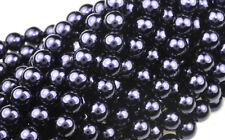 75 Royal Purple Czech Glass Pearl Beads 6MM