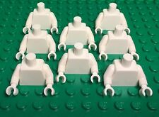 Lego New Bulk Plain White Mini Figures Torso X8 Complete With Arms And Hands Lot