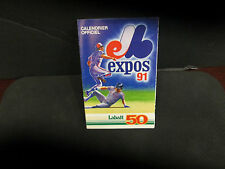 MONTREAL EXPOS 1991 ALL IN FRENCH LABATT SCHEDULE