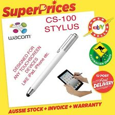 WACOM BAMBOO STYLUS PEN CS-100 WHITE APPLE iPAD 2/iPhone 4S 5 5S 6 TOUCH TABLET