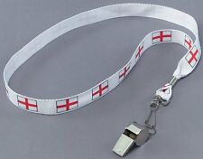 England Supporters Metal Whistle St George Cross Neck Cord P5750