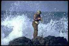 647016 Fisherman About To Get Wave zapped Sonora Sea Of Cortez A4 Photo Print