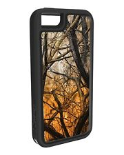 I5-SMCA-325 Impact Gel Xtreme Armour Phone Case for iPhone 5/5s/SE - Orange Camo