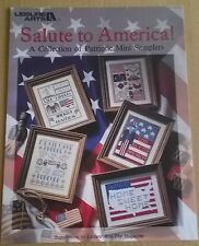 Salute to america samplers cross stitch pattern par leisure arts