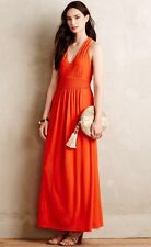 NEW Anthropologie Maeve Yuma Jersey Maxi Dress Size 6 Orange