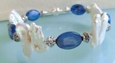 Zodiac Bracelet Kyanite Biwa pearl Cleansing Recovery after surgery or accident