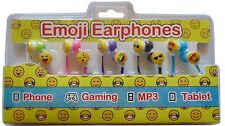 EMOJI EARPHONES HEADPHONE  EARPHONE FOR MP3 4 5 COLOURFUL 5 IN A PACK EXCLUSIVE