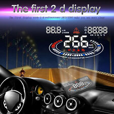 """Windscreen Car Head Up Display 5.5"""" HUD E300 OBD II ODB2 MPH KMH Speed Warning"""