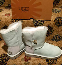 NEW UGG Australia Bailey Button Bling Swarovski Crystals ICE Sheepskin Boots 7