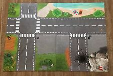 "LEGO City police Playmat 850929 double Sided Mat 39x27"" hard layout roads"