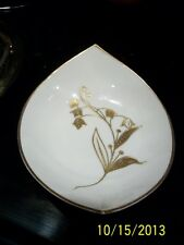 "VINTAGE China from UNO--Candy Dish--White with Gold trim ""Favorite"" pattern"