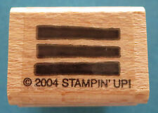 LINES Rubber Stamp Stampin' Up! 2004 Retired DIY Crafts Cards Shapes EUC