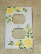 hp  Chic Shabby Rose SINGLE Outlet  cover  YELLOW ROSES *