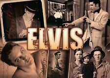 Many Pictures of Elvis Presley, Sepia Collage, Parents, Graceland etc - Postcard