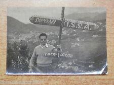 Vecchia foto d epoca CAVA DEI TIRRENI ? Colle San Martino Modellino aeroplano di