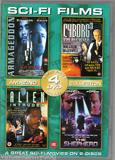 Armageddon / Cyborg 3 / Alien Intruder / The Shepherd (4 films on 2 DVDs)