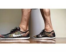 NIKE FREE 4.0 FLYKNIT Running Trainers Shoes Gym - UK 8.5 (EUR 43) Black/Orange
