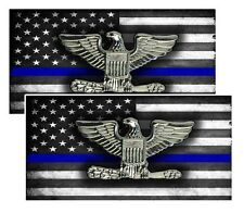 Subdued American Flag Sheriff Police Chief Eagle Rank Decals Pack Of Two