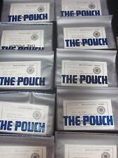 10 NOS Vtg Soft Plastic Vinyl Clear Tobacco Herb Pouch New Never Used WENMAR LOT