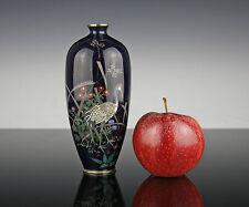 Sottili Giapponese Cloisonne vaso per 1890 Meiji argento filo Giappone