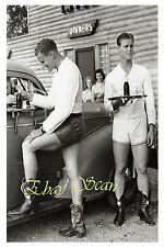 VINTAGE 1940's PHOTO SEXY MALE CAR HOPS SHOW NUDE LEGS IN TEXAS GAY INTEREST 161