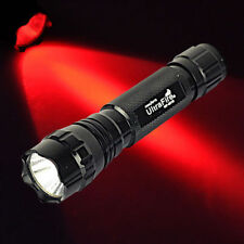 UltraFire WF-501B 3W LED CREE Q5 300Lm Flashlight 18650 Tactical Torch Red light
