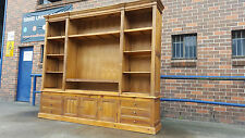 NEW FRENCH PROVINCIAL LIBRARY BOOKCASE / TV ENTERTAINMENT UNIT DISPLAY CABINET