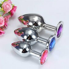 3 Pcs Portable Female Male Metal  Plug Crystal Jewelry Stainless Steel + 3 Size
