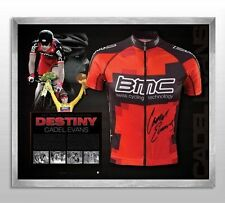 CADEL EVANS HAND SIGNED FRAMED LIMITED EDITION BMC 2011 TOUR DE FRANCE JERSEY