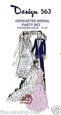 "Fits Barbie Teen Doll Crochet Bridal Party Pattern Wardrobe 11 1/2""  No. 563"