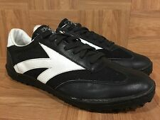Vintage�� USA Olympics 80s Black Leather SuperStar Indoor Turf Shoe 11 Korea����