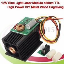 12W Laser Engraving Head Module DIY 12000mw Metal Wood Cutting Engraving Machine