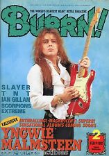 Burrn! Heavy Metal Magazine February 1992 Japan Yngwie Malmsteen Slayer TNT