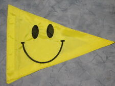 Custom Smiley Face TRIANGLE Flag 4 Safety ATV UTV JEEP trike bike Whip Pole