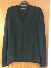 Dolce & Gabbana Wool V neck sweater Sz 50 Uk LARGE